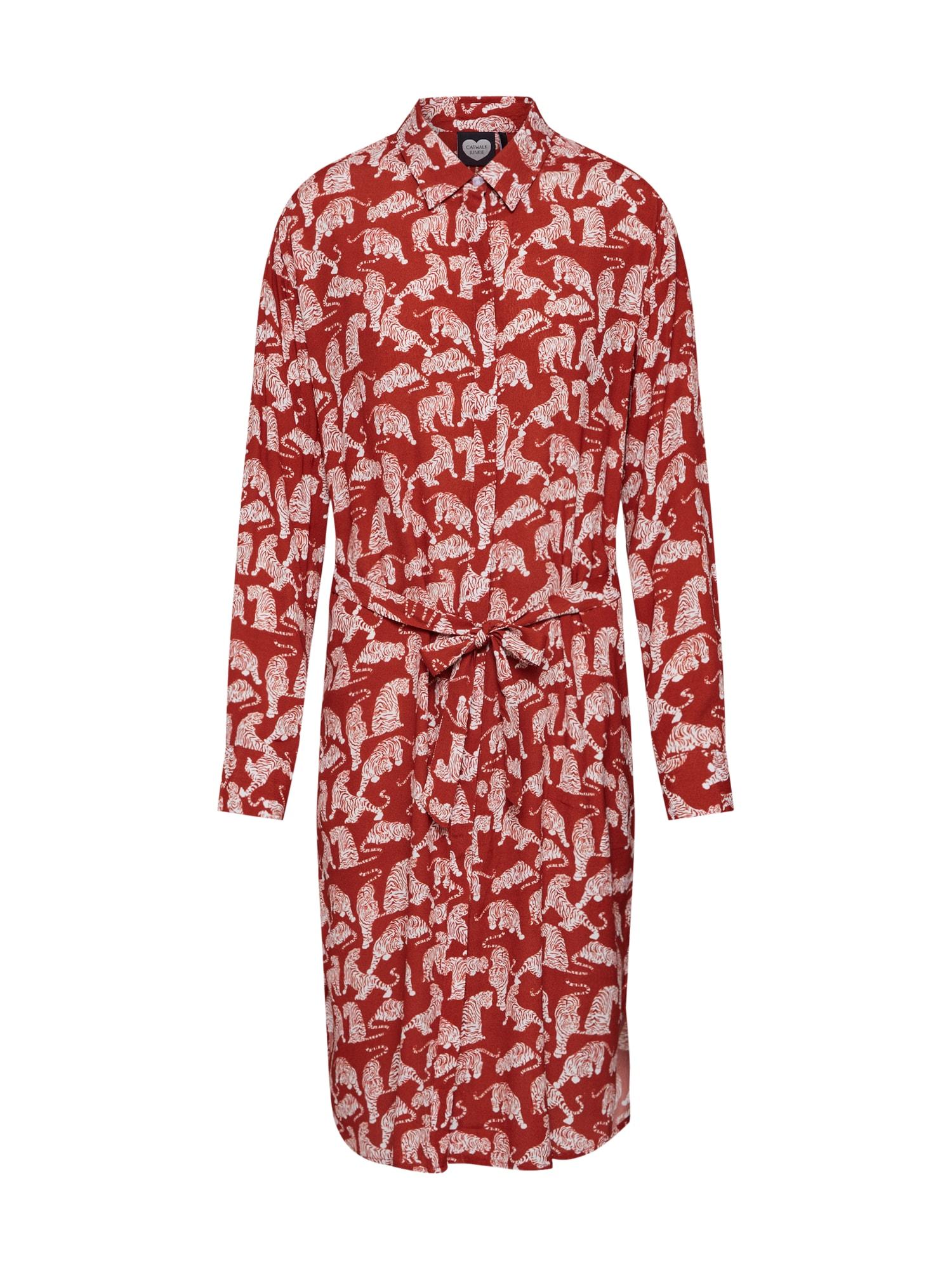 CATWALK JUNKIE Košilové šaty 'Tiger Love'  hnědá