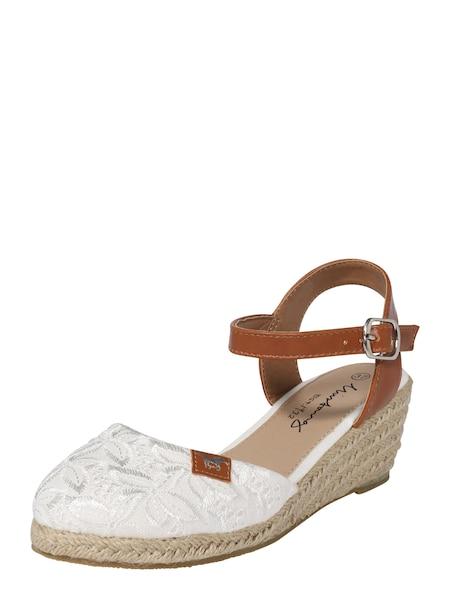 Sandalen für Frauen - MUSTANG Sandalette braun weiß  - Onlineshop ABOUT YOU