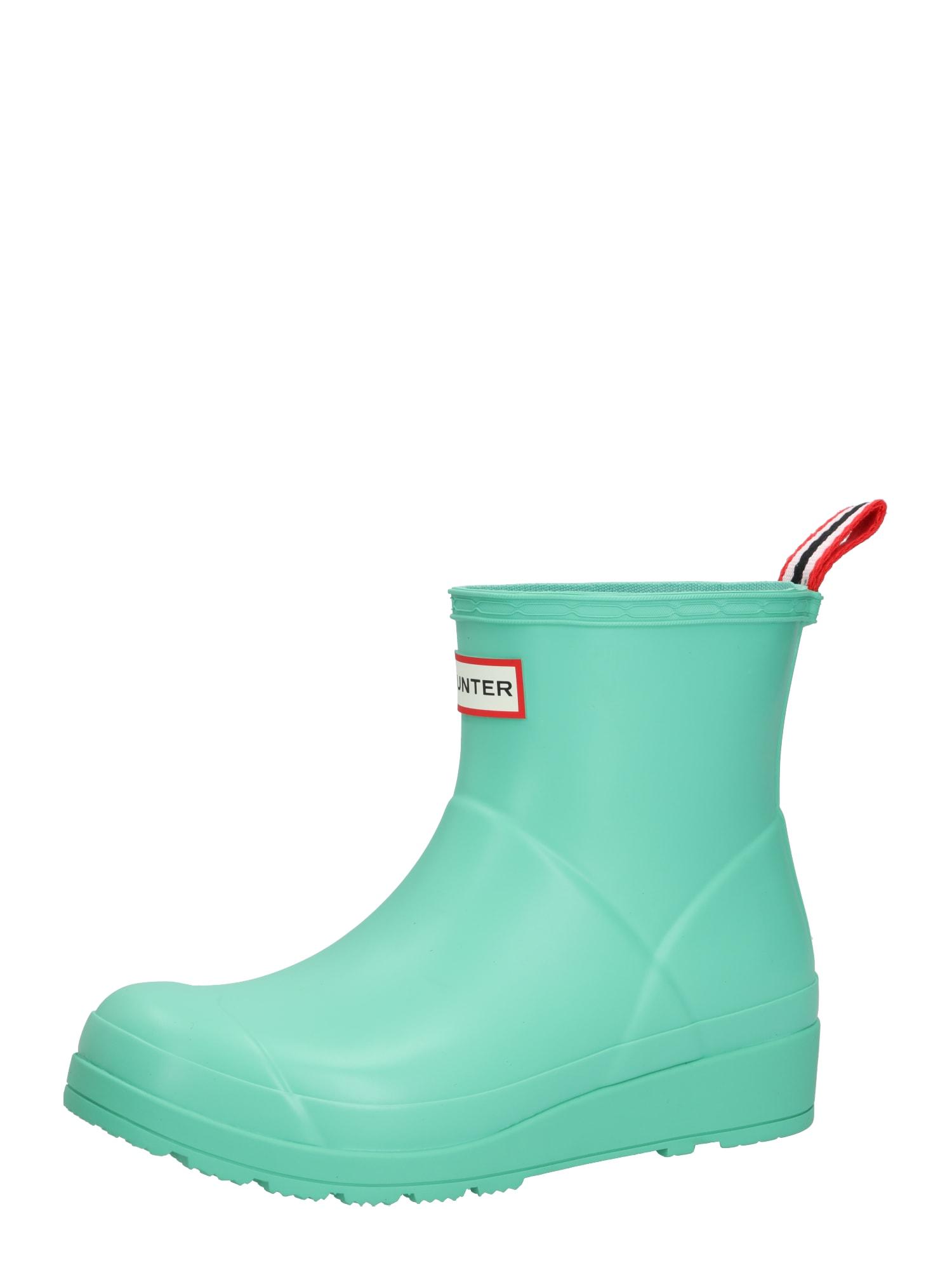 HUNTER Guminiai batai 'Play' šviesiai žalia