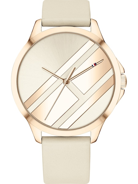 Uhren für Frauen - TOMMY HILFIGER Damenuhr creme gold  - Onlineshop ABOUT YOU