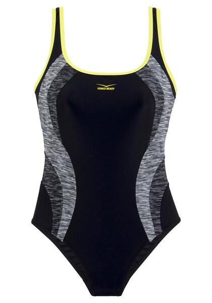 Bademode - Badeanzug › VENICE BEACH › gelb graumeliert schwarz  - Onlineshop ABOUT YOU