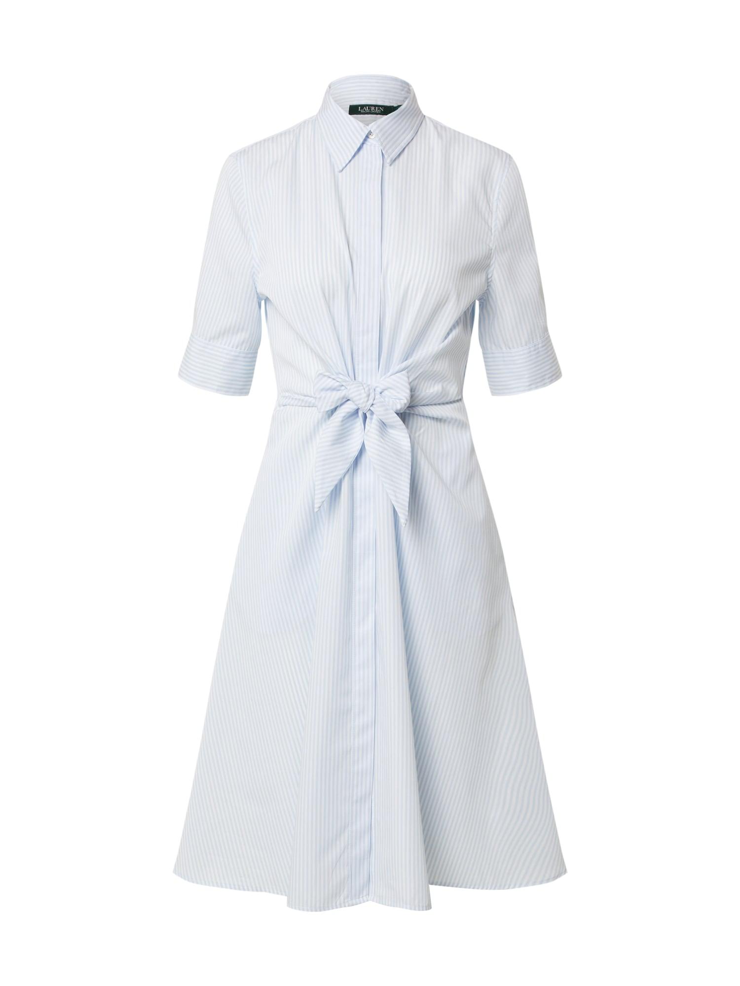 Lauren Ralph Lauren Košilové šaty 'WAKANA'  světlemodrá / bílá