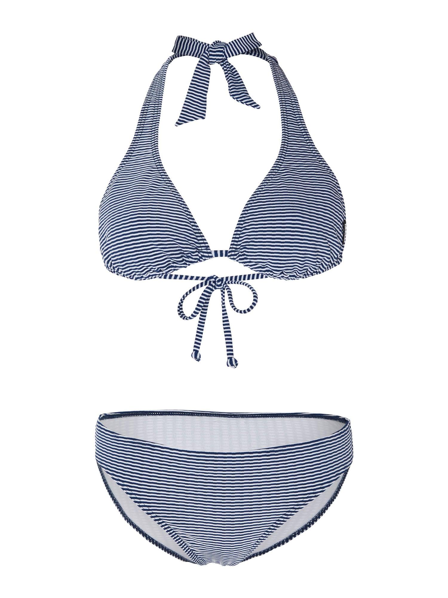 CHIEMSEE Sportinis bikinis balta / tamsiai mėlyna