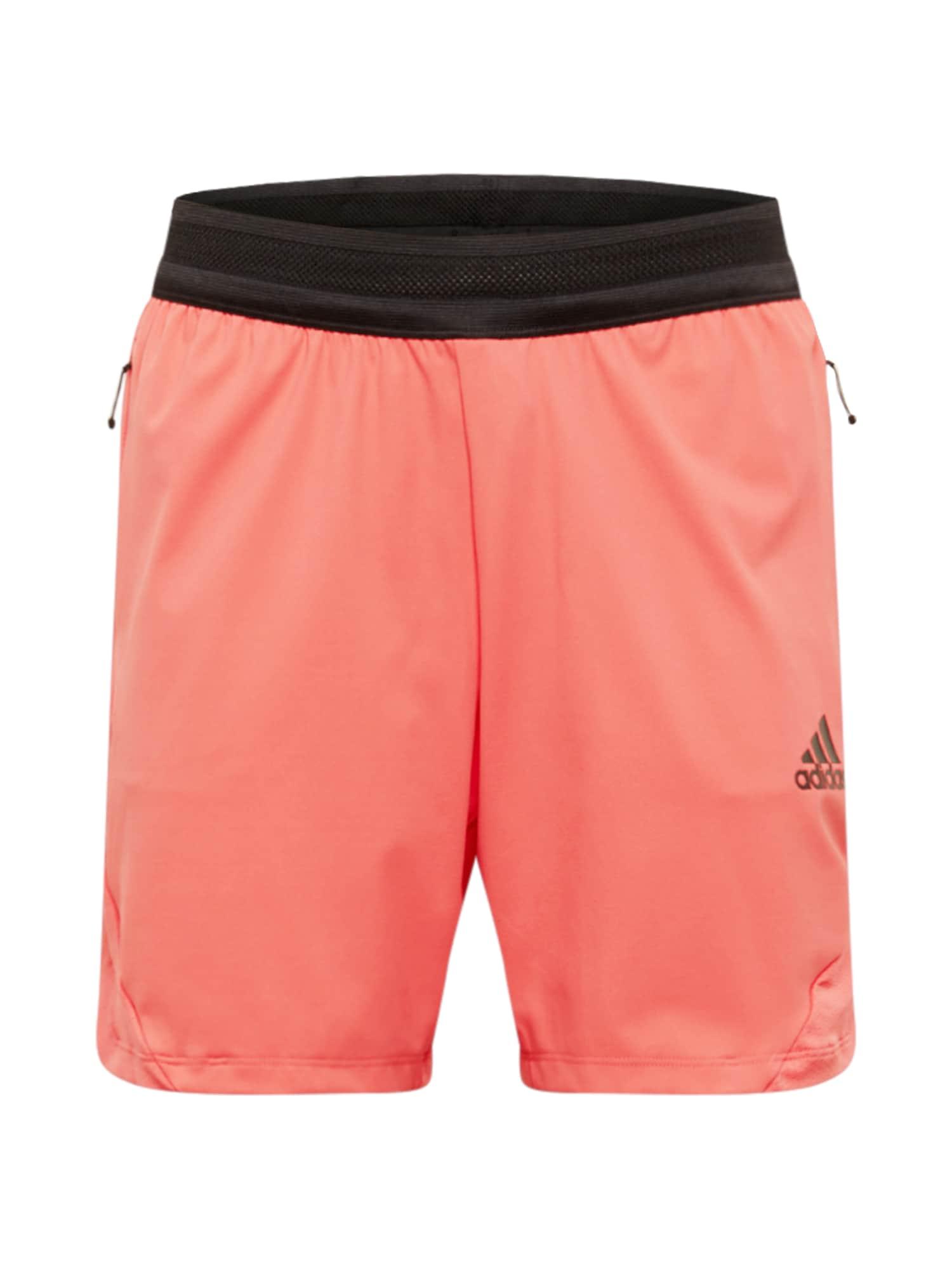 ADIDAS PERFORMANCE Športové nohavice  lososová / čierna
