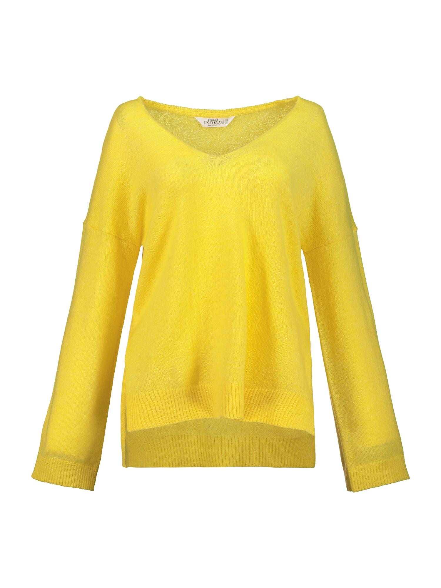 Studio Untold Laisvas megztinis geltona