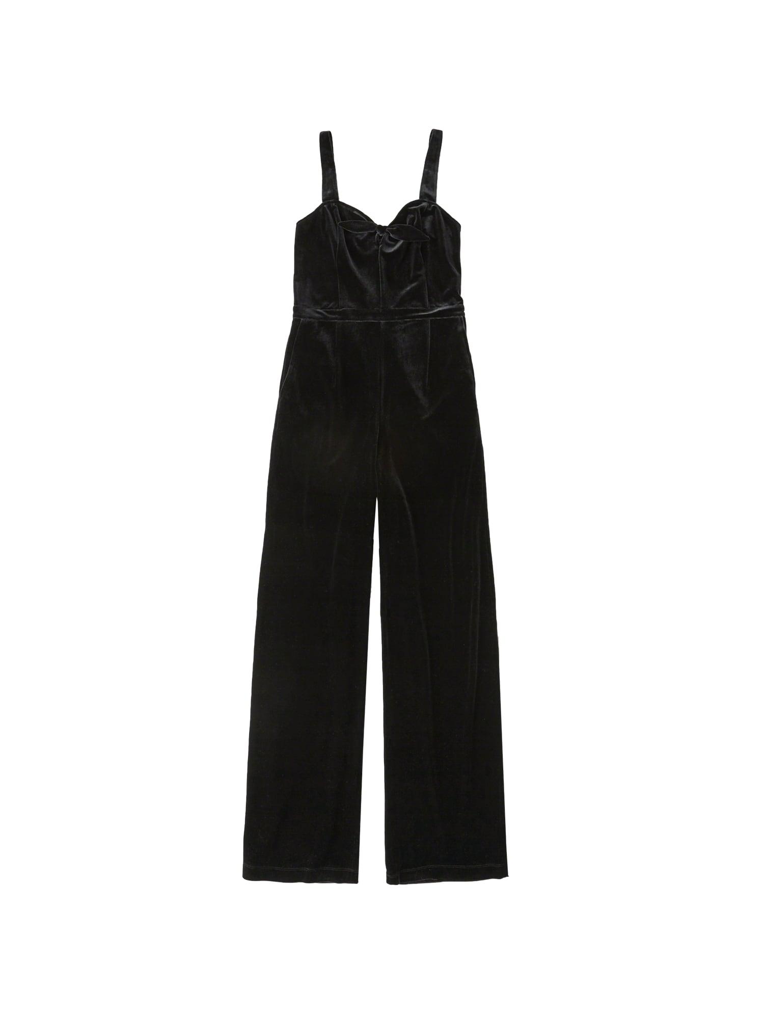 Abercrombie & Fitch Kombinezono tipo kostiumas 'XM18-VELVET KNOT FRONT JUMPSUIT 2CC' juoda