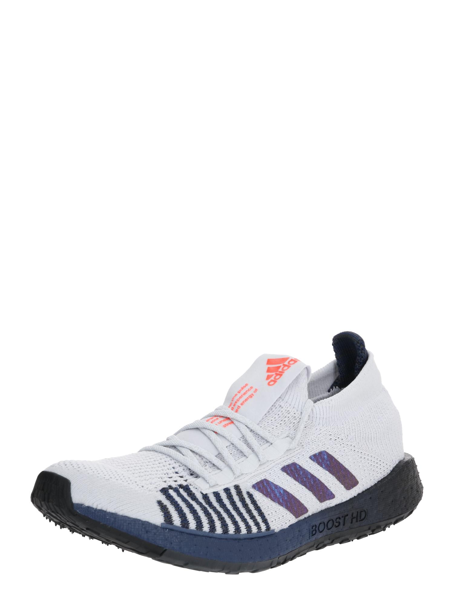 ADIDAS PERFORMANCE Bėgimo batai balta / tamsiai mėlyna / šviesiai pilka