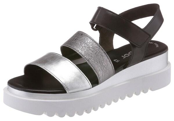 Sandalen für Frauen - GABOR Sandalette schwarz silber weiß  - Onlineshop ABOUT YOU