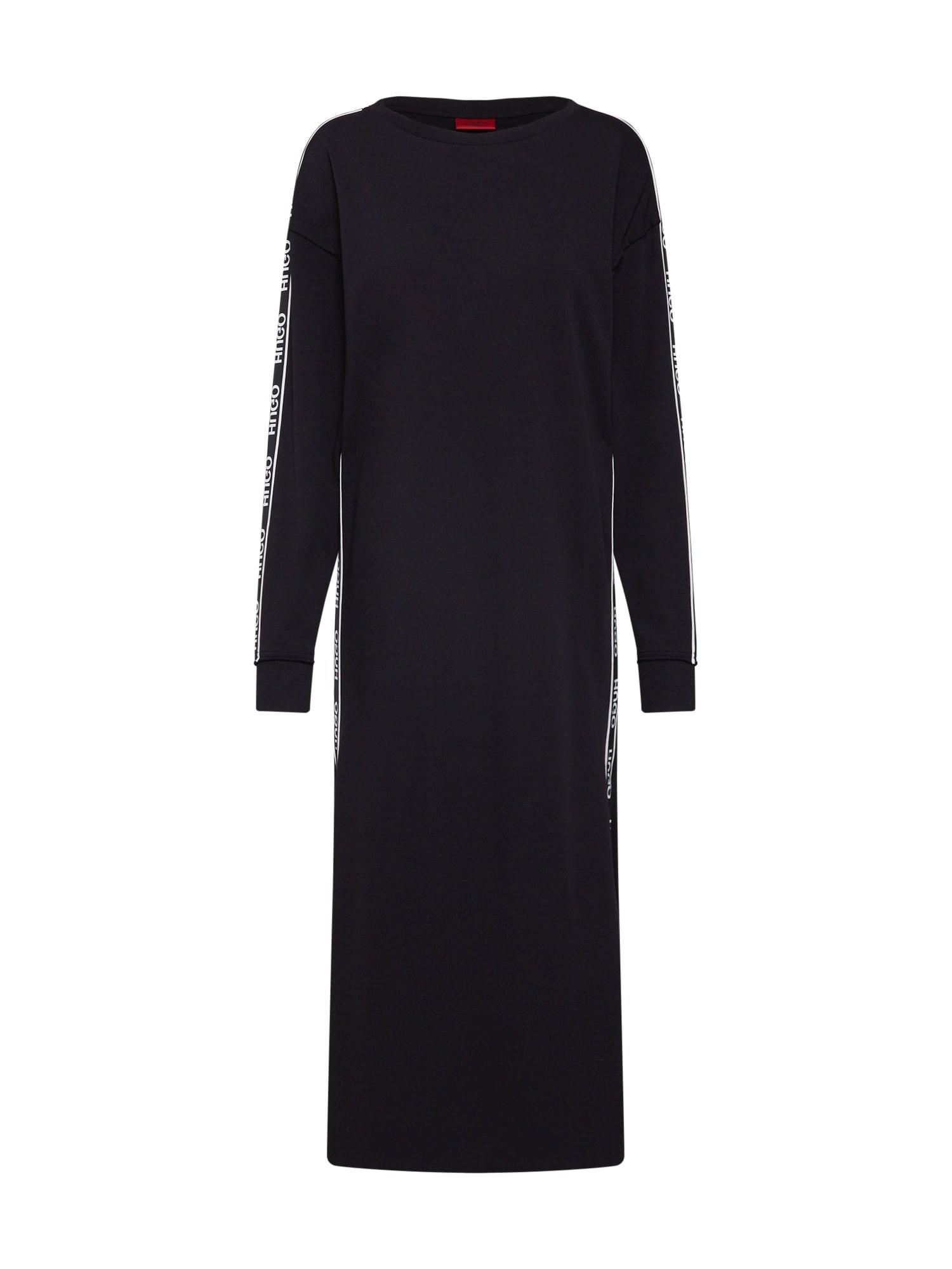 Šaty Nuery černá bílá HUGO