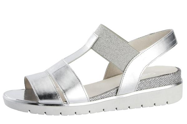 Sandalen für Frauen - GABOR Sandalette silber  - Onlineshop ABOUT YOU