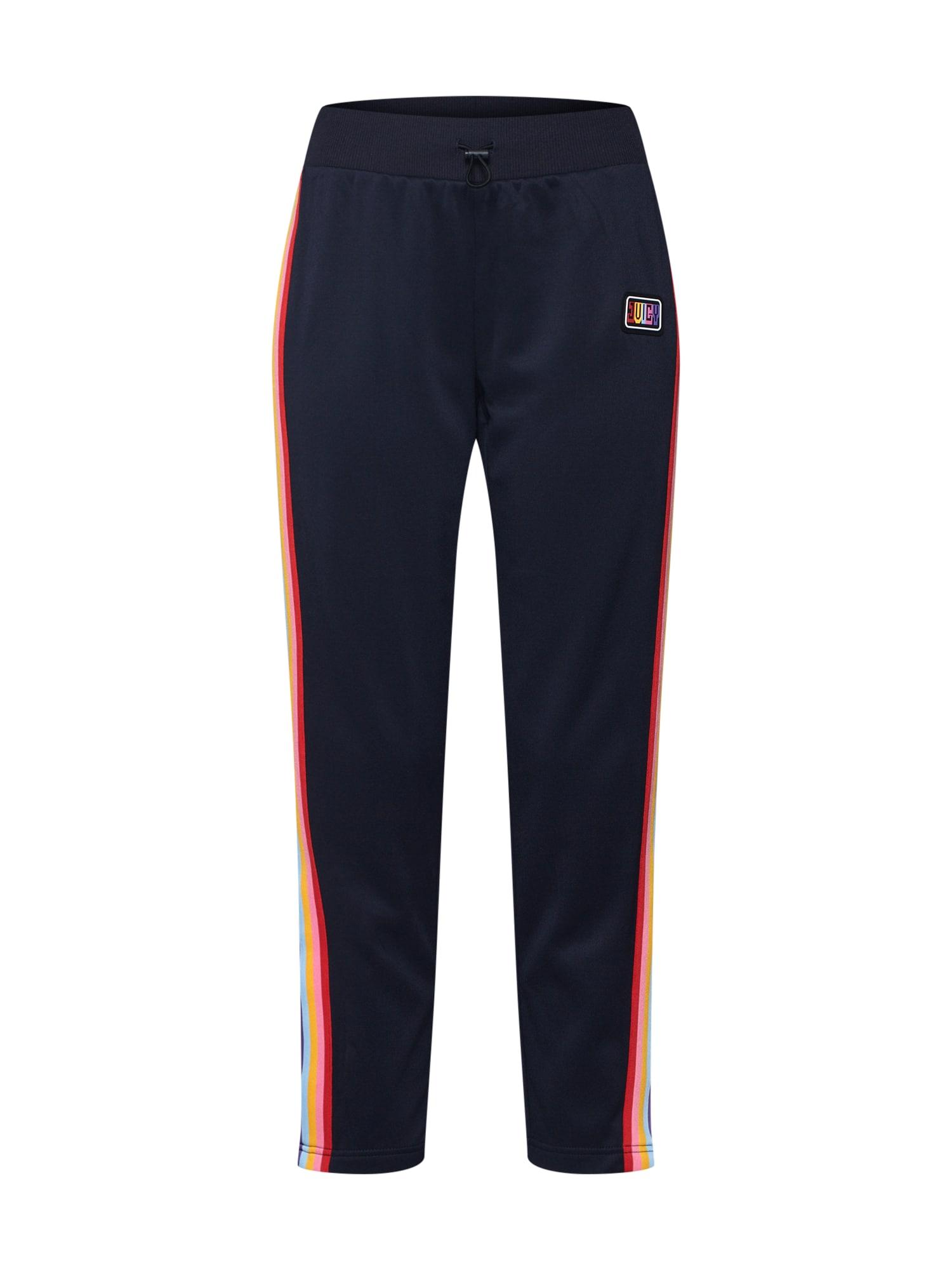 Kalhoty RAINBOW SIDE STRIPED TRICOT TRACK PANT námořnická modř mix barev Juicy By Juicy Couture