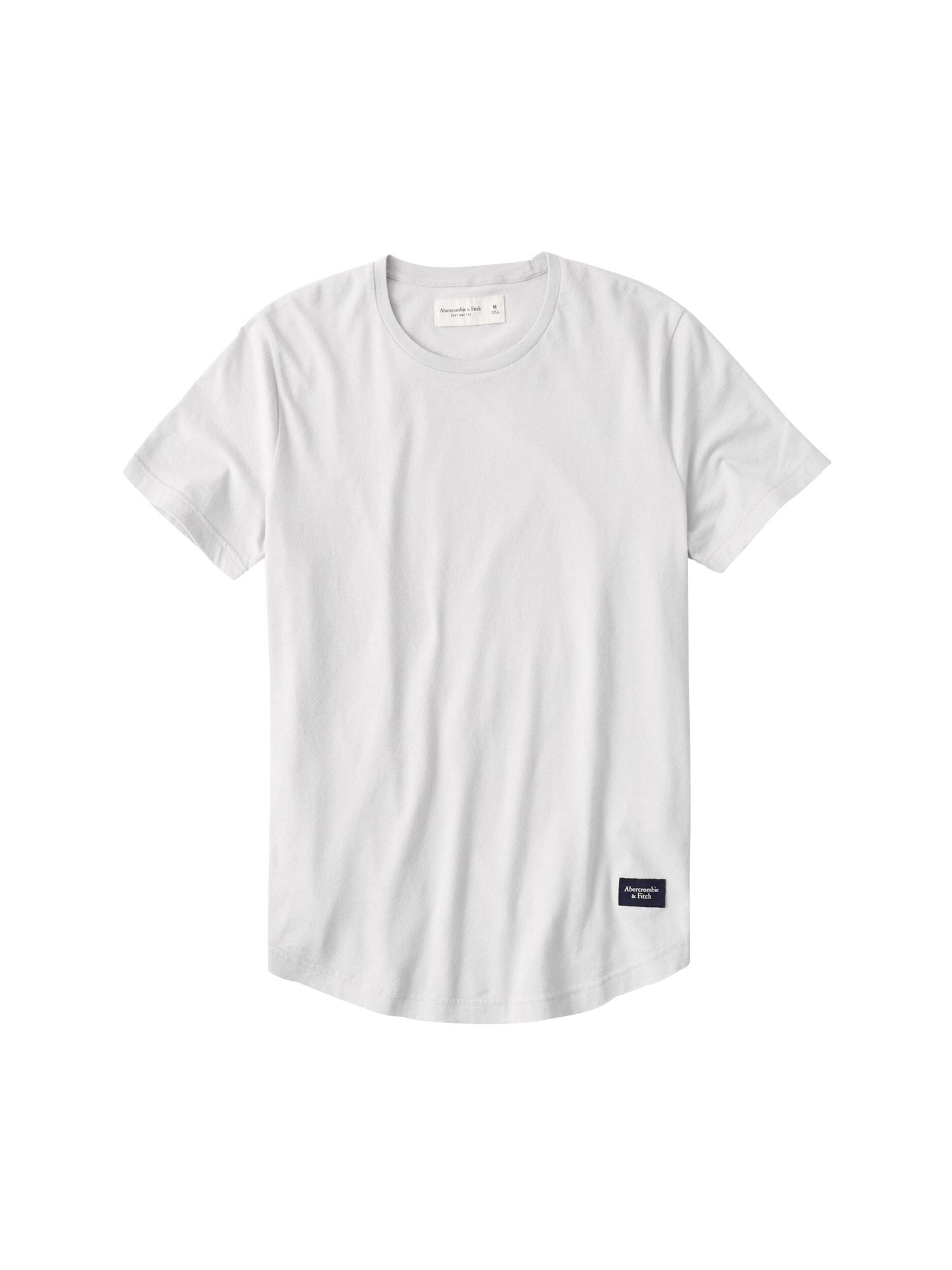 Abercrombie & Fitch Marškinėliai šviesiai pilka