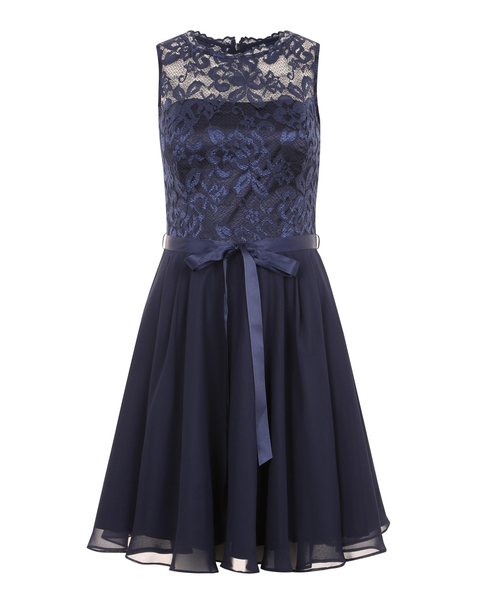SWING Kokteilové šaty  tmavomodrá