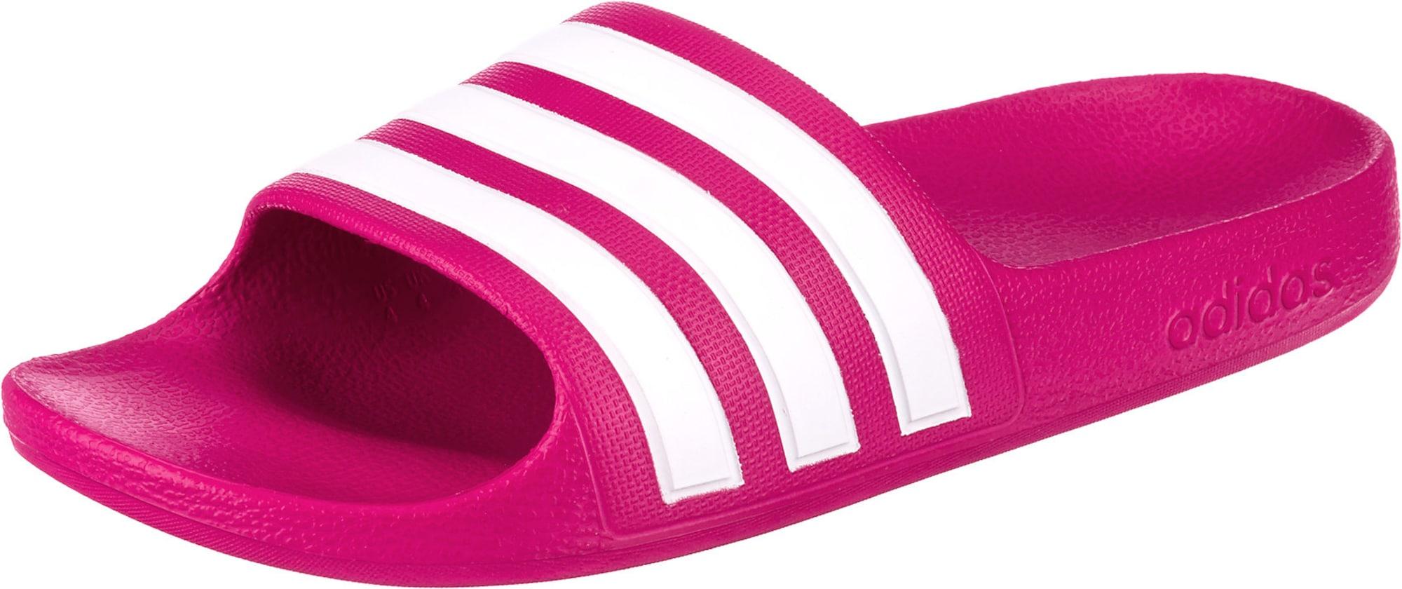 ADIDAS PERFORMANCE Sandalai / maudymosi batai 'Adilette Aqua' rožinė / balta