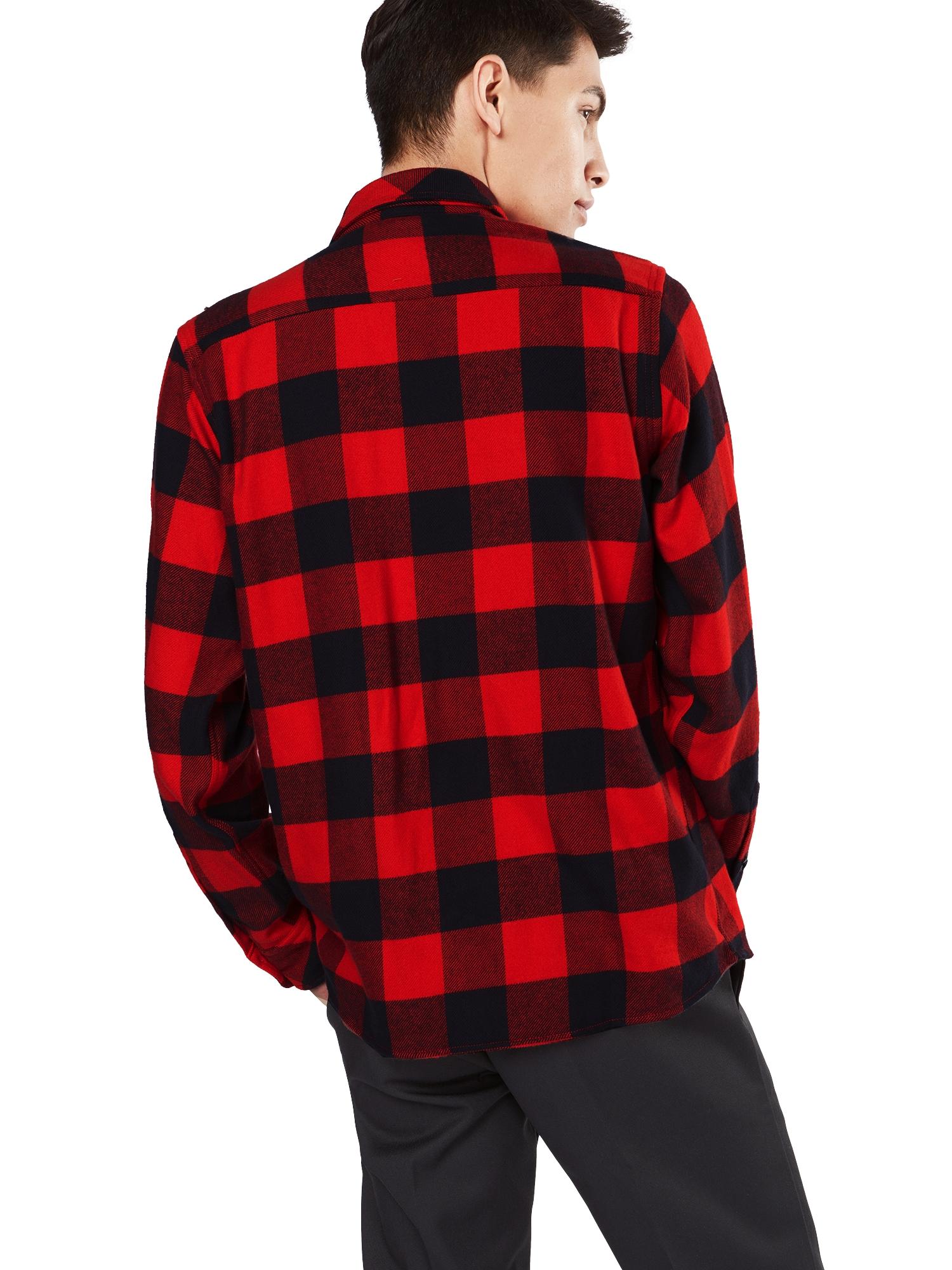 DICKIES Skjorta 'Sacramento'  röd / svart