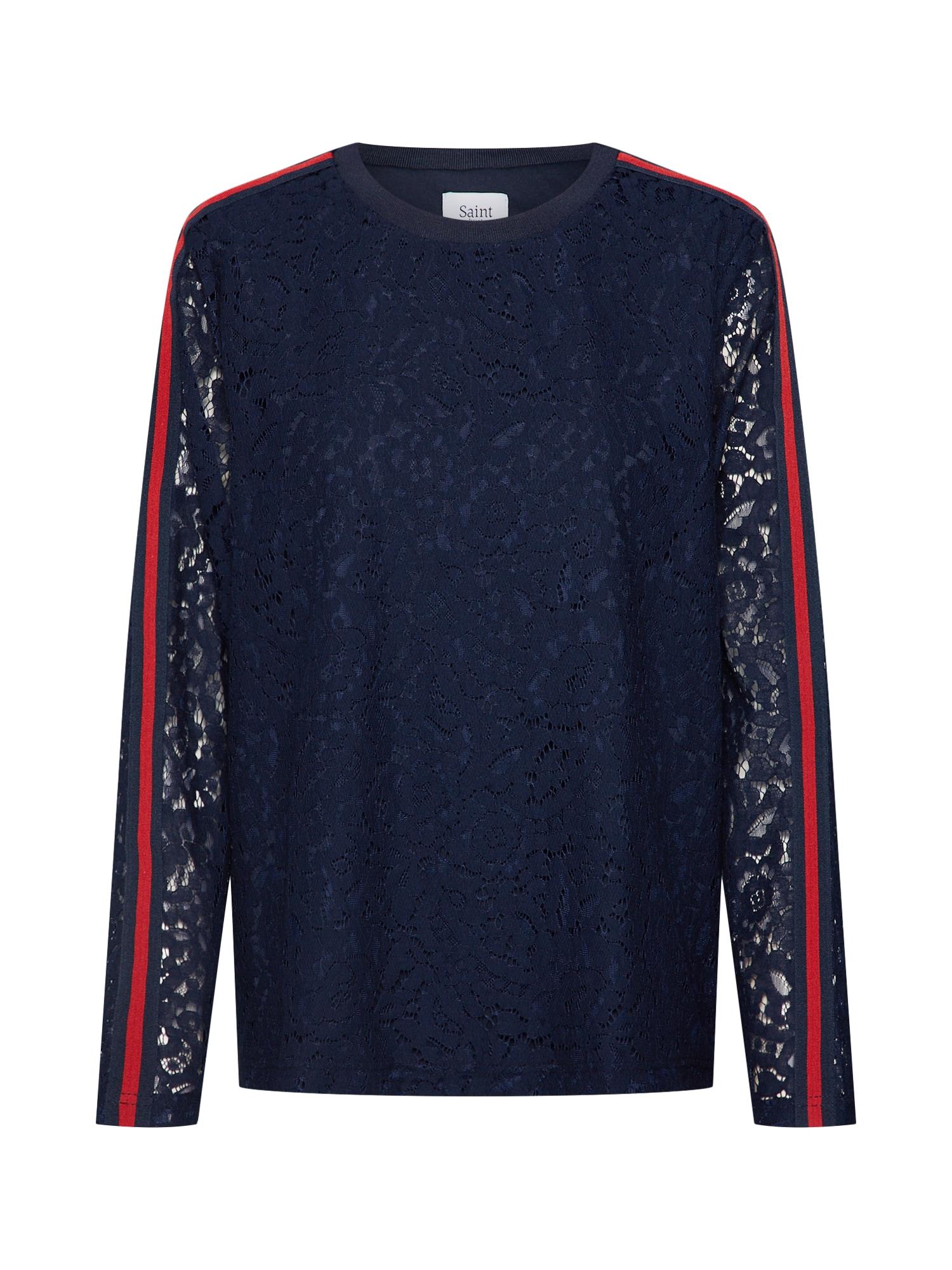 Tričko LACE BLOUSE námořnická modř červená SAINT TROPEZ
