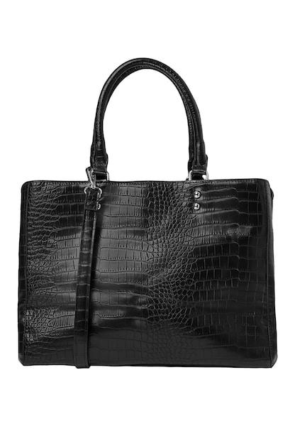 Handtaschen für Frauen - Handtasche in Kroko Optik › HALLHUBER › schwarz  - Onlineshop ABOUT YOU