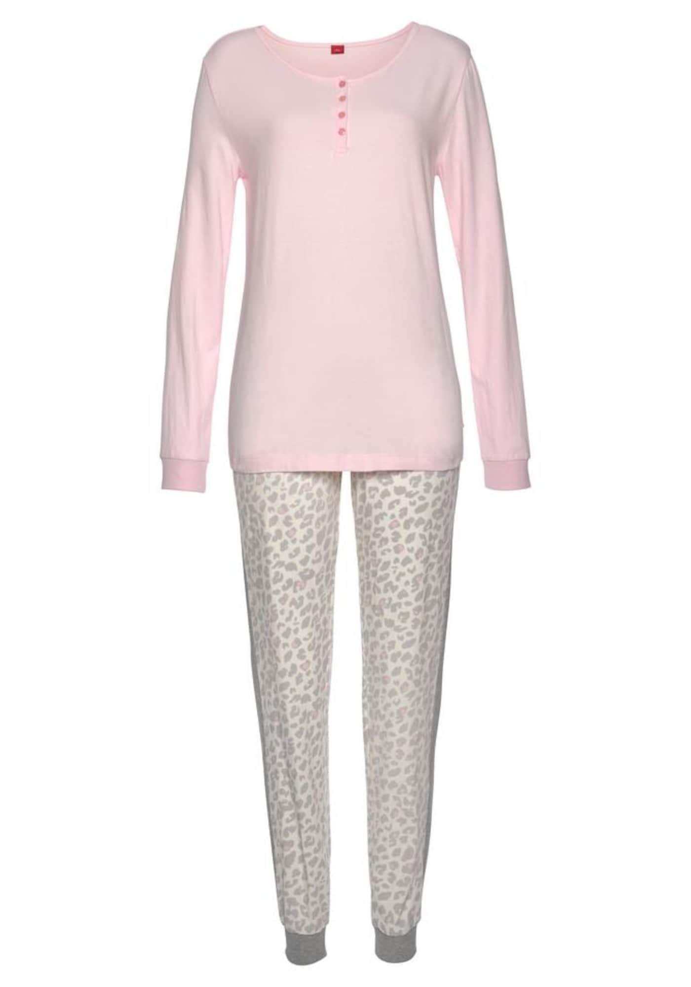 s.Oliver Pižama ryškiai rožinė spalva