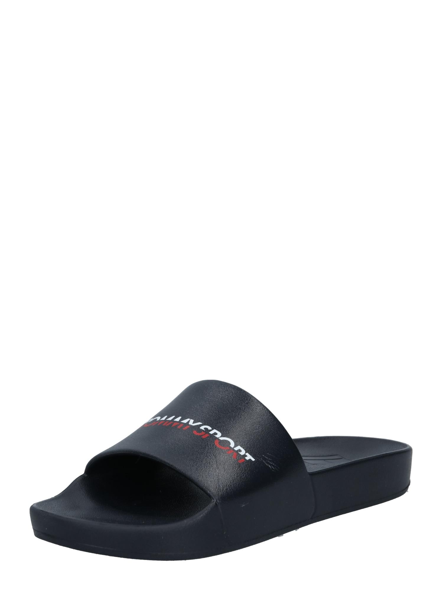 Tommy Sport Sandalai / maudymosi batai tamsiai mėlyna / balta / raudona
