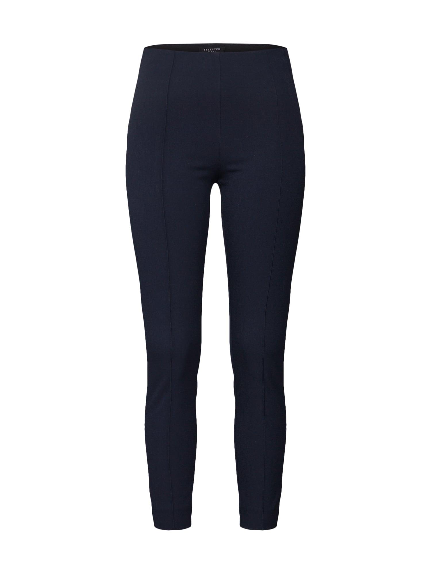 Kalhoty Pintuck tmavě modrá SELECTED FEMME