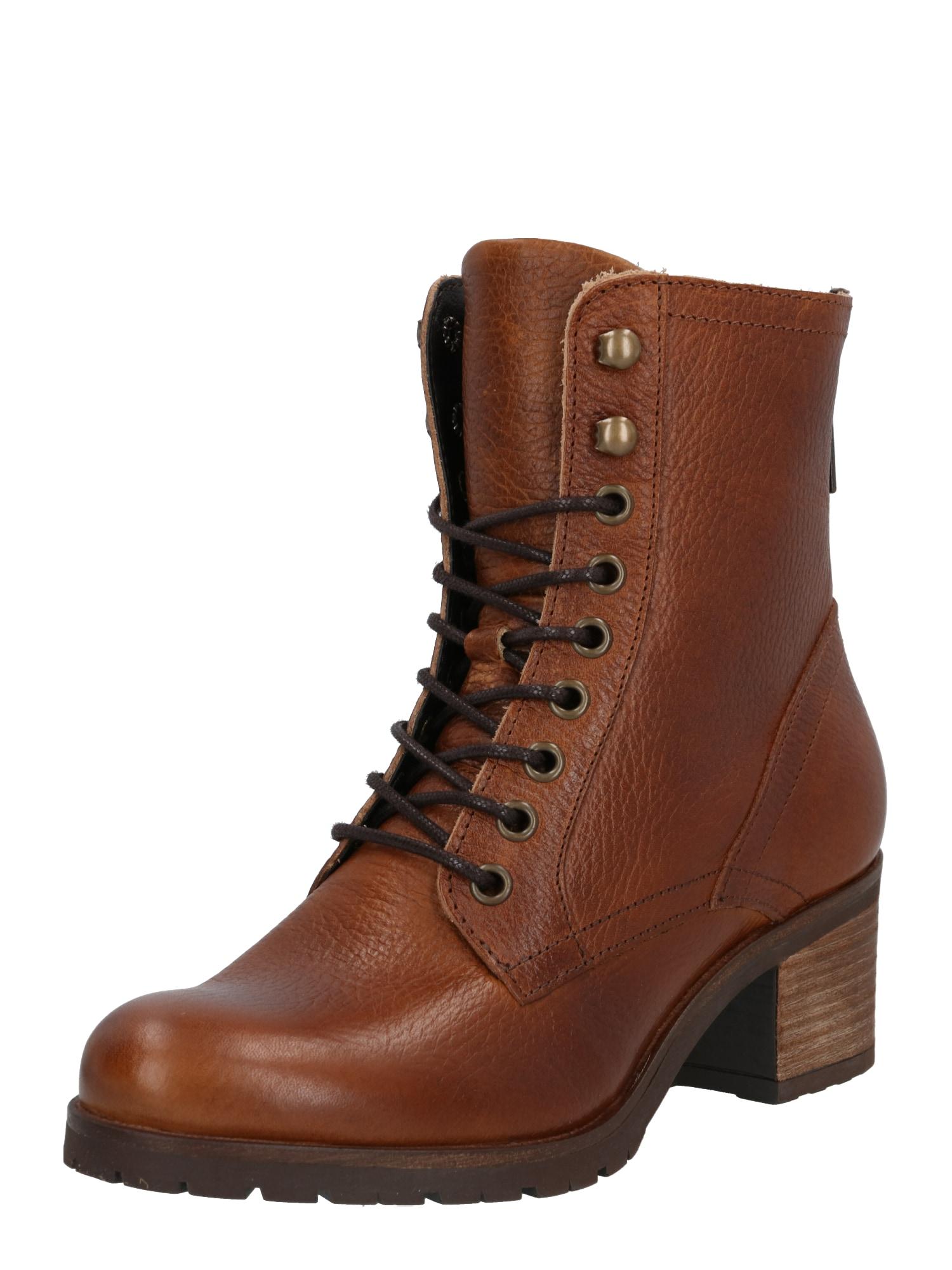 BULLBOXER Suvarstomieji kulkšnis dengiantys batai ruda (konjako)