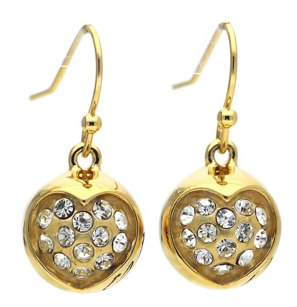 Ohrringe für Frauen - GUESS Ohrhänger 'Ube71216' gold weiß  - Onlineshop ABOUT YOU