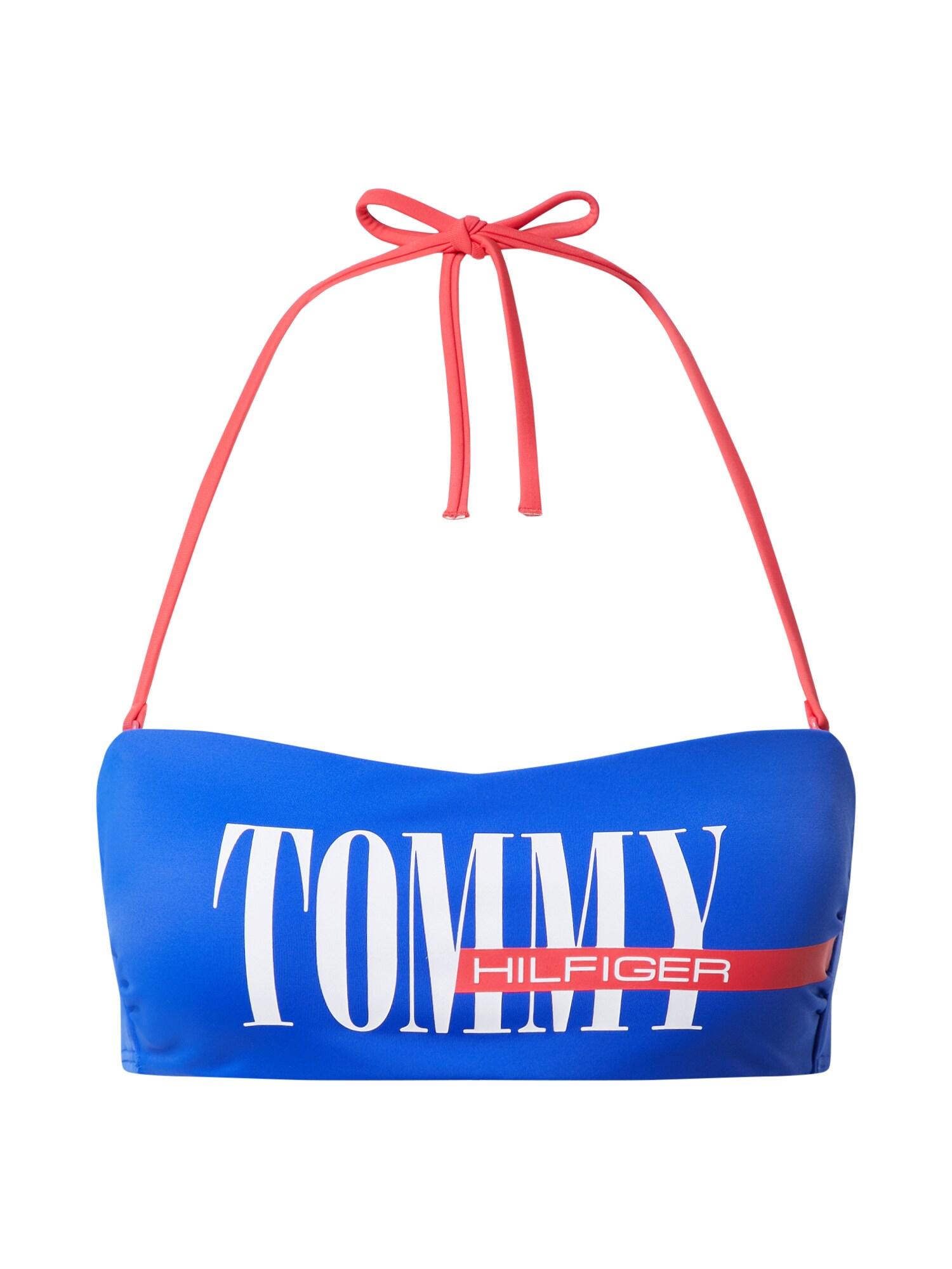 "Tommy Hilfiger Underwear Bikinio viršutinė dalis balta / raudona / sodri mėlyna (""karališka"")"