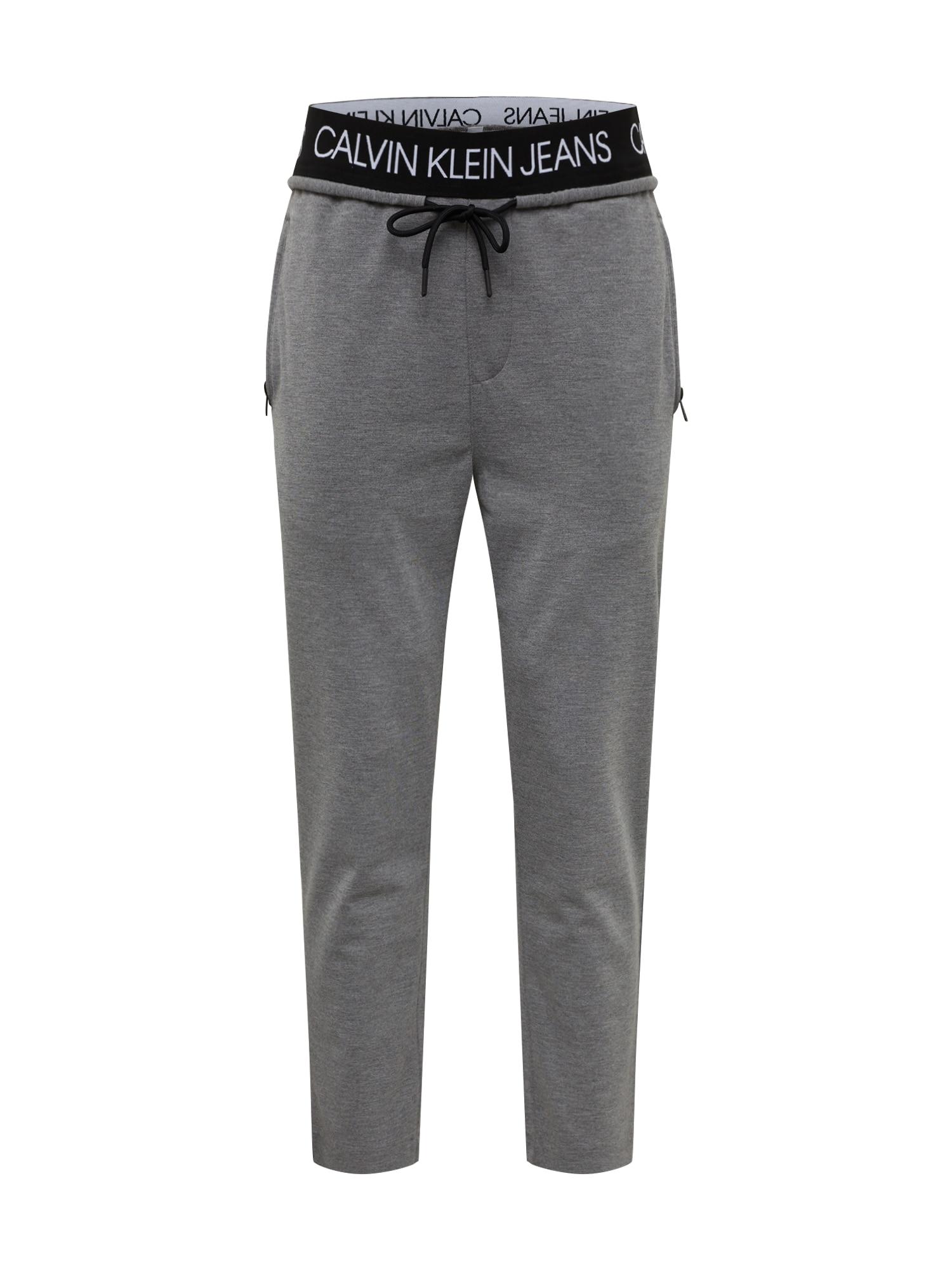 Calvin Klein Kelnės juoda / margai pilka