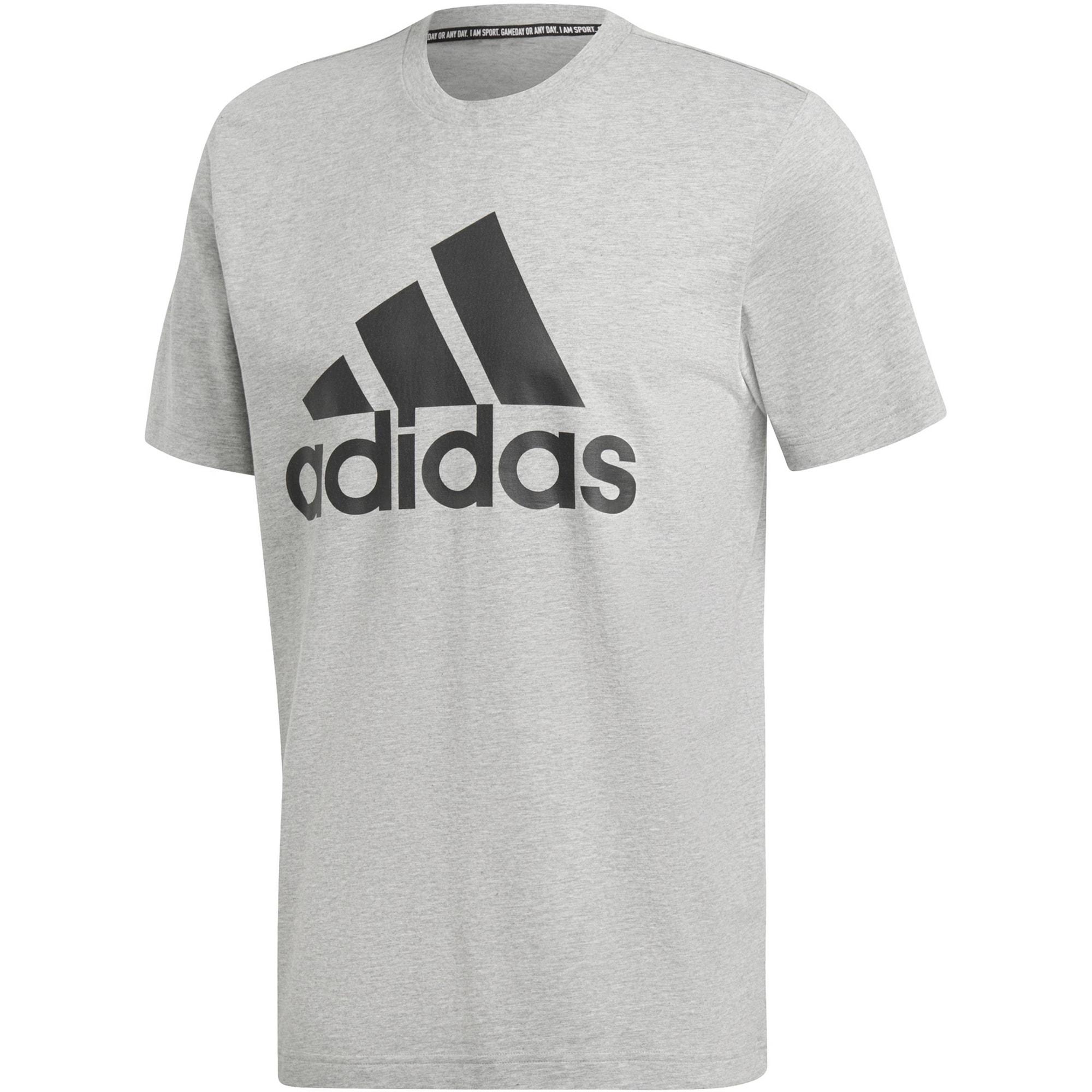 ADIDAS PERFORMANCE Sportiniai marškinėliai 'MH Bos' juoda / margai pilka