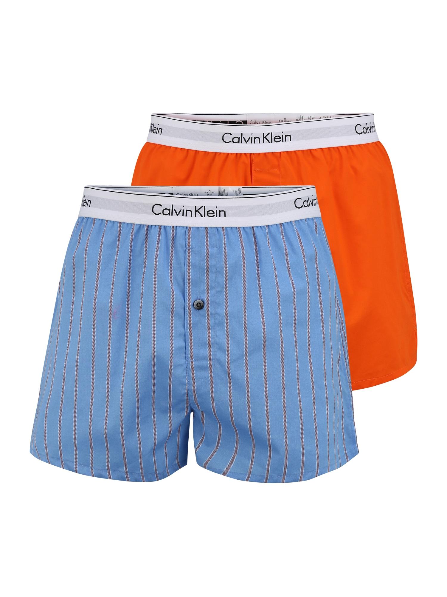 Calvin Klein Underwear Boxer trumpikės mėlyna / oranžinė