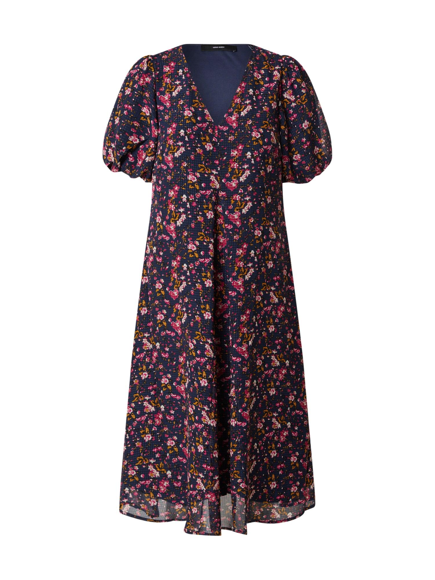 Vero Moda Petite Šaty  modré / zmiešané farby