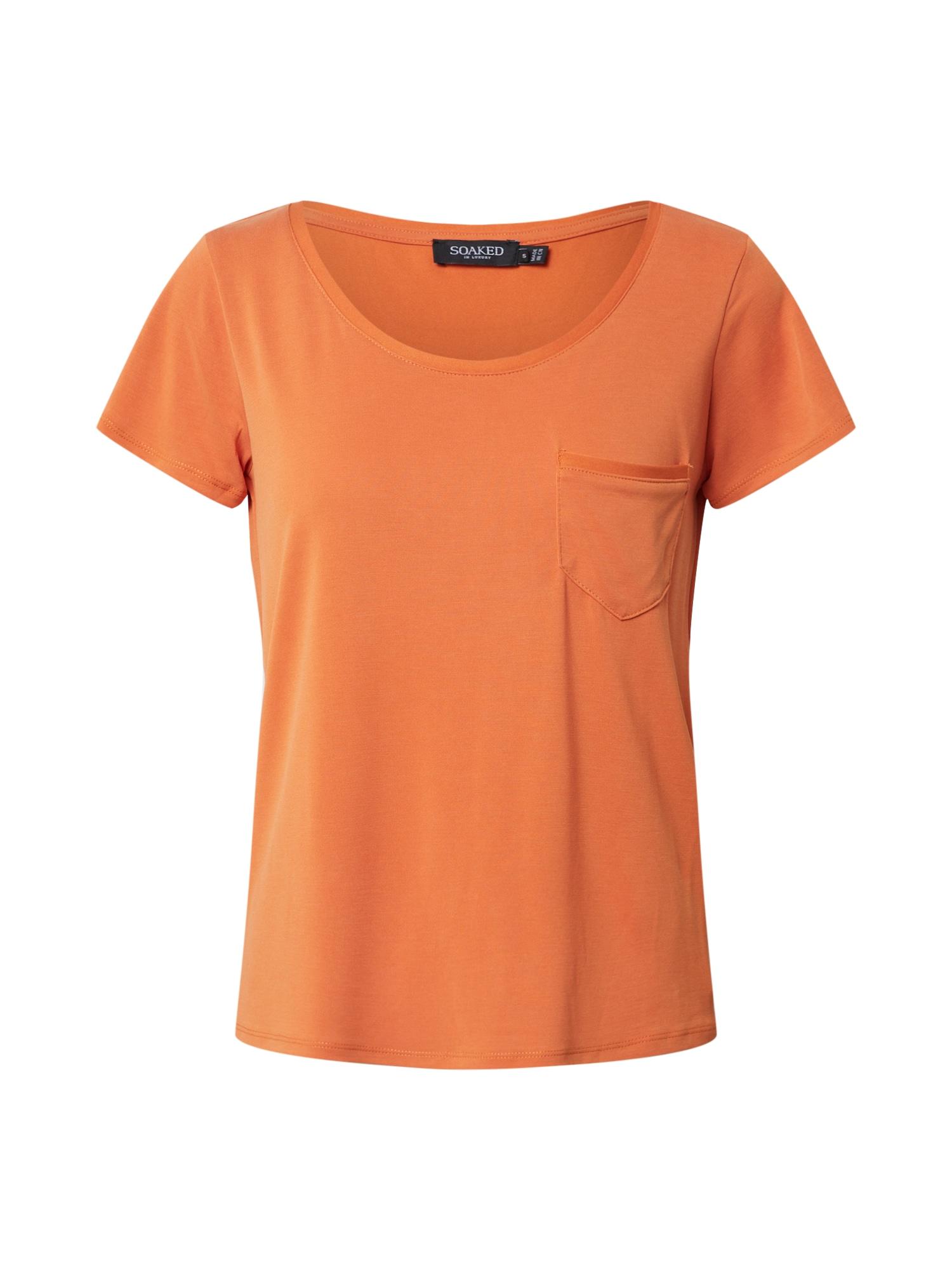 SOAKED IN LUXURY Tričko 'SL Columbine Tee'  jasně oranžová