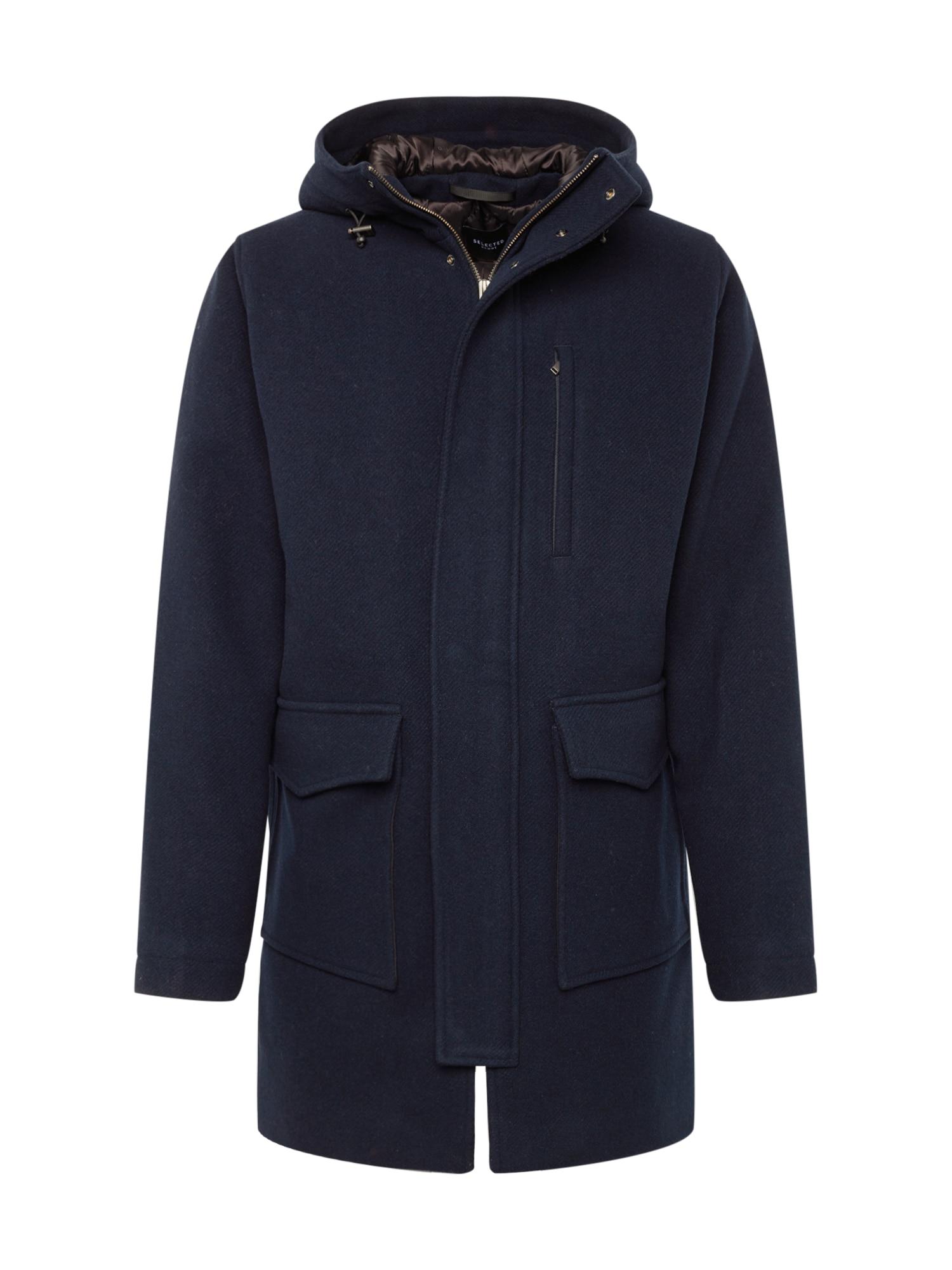 SELECTED HOMME Žieminis paltas tamsiai mėlyna
