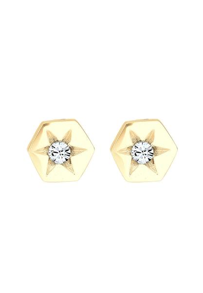 Ohrringe für Frauen - Ohrringe 'Astro Hexagon Sterne' › ELLI › gold weiß  - Onlineshop ABOUT YOU