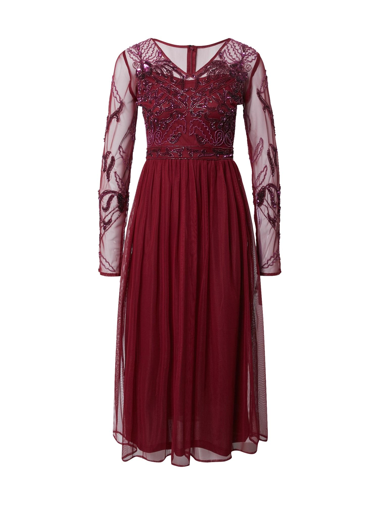 Frock and Frill Kokteilinė suknelė burgundiško vyno spalva
