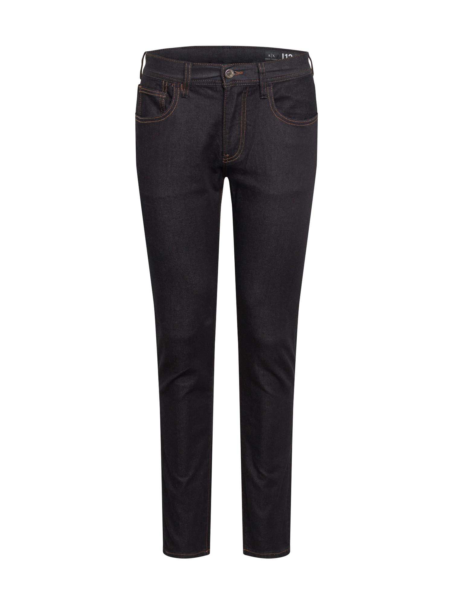 ARMANI EXCHANGE Džinsai juodo džinso spalva