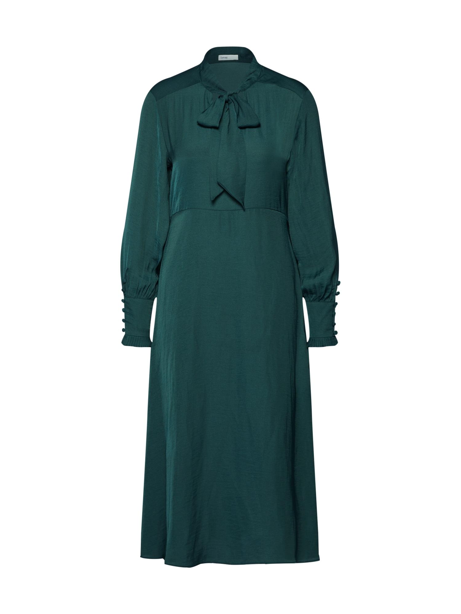 Košilové šaty LR-DINNA 1 tmavě zelená Levete Room