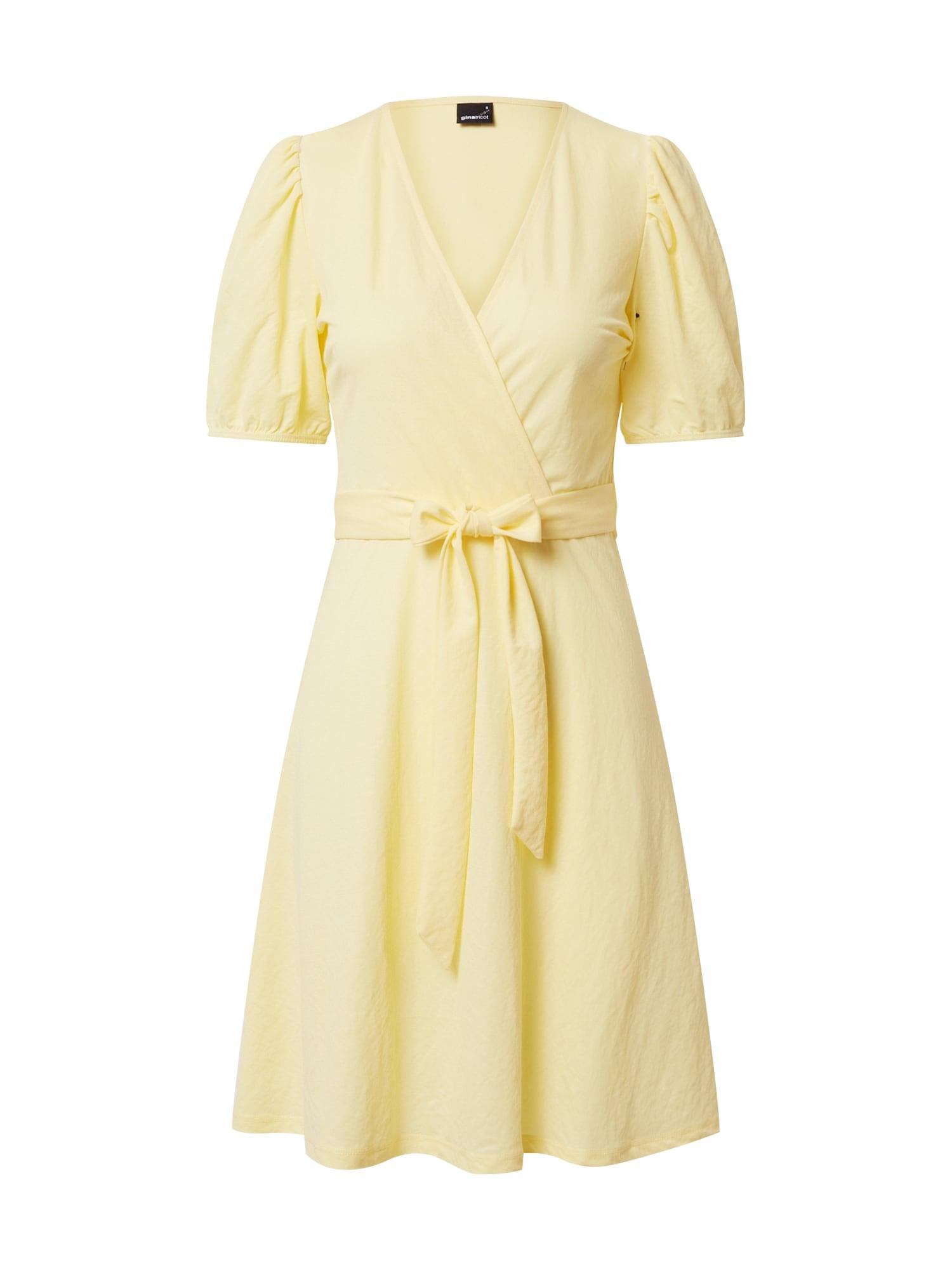 Gina Tricot Vasarinė suknelė 'Wanja' citrinos spalva