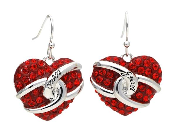 Ohrringe für Frauen - GUESS Ohrringe 'UBE71252' feuerrot silber  - Onlineshop ABOUT YOU