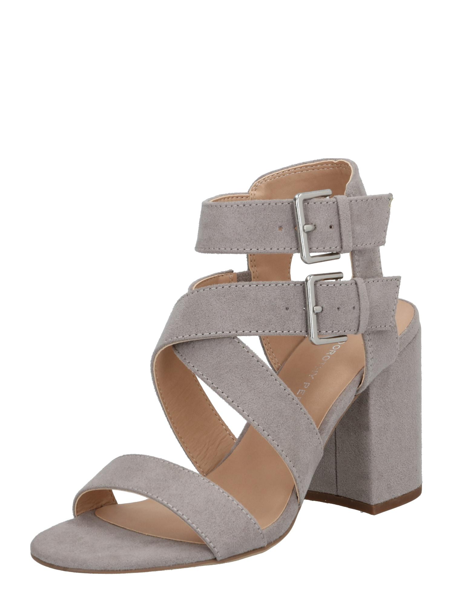 Dorothy Perkins Páskové sandály 'Saffron'  světle šedá