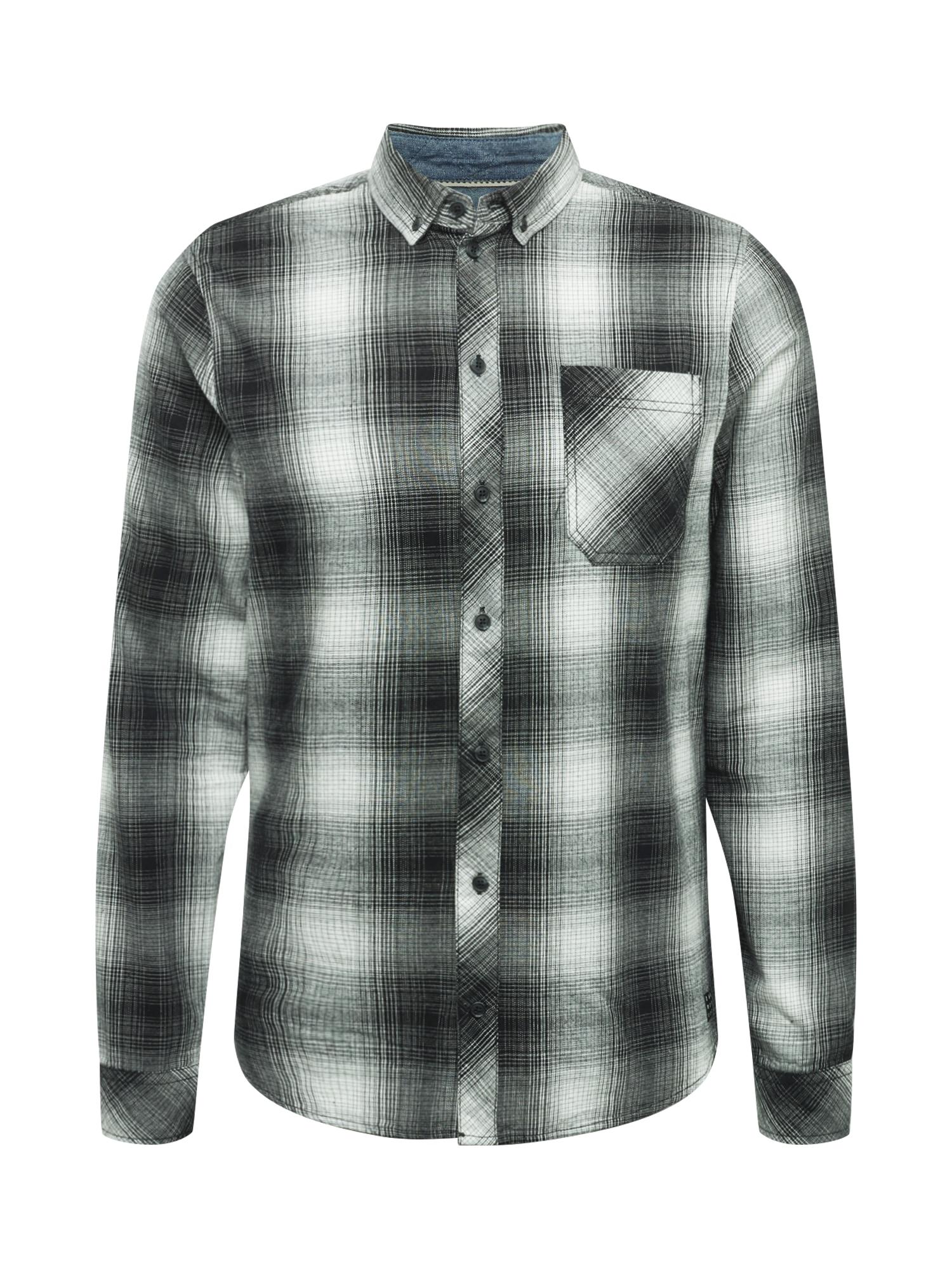 BLEND Marškiniai balta / juoda