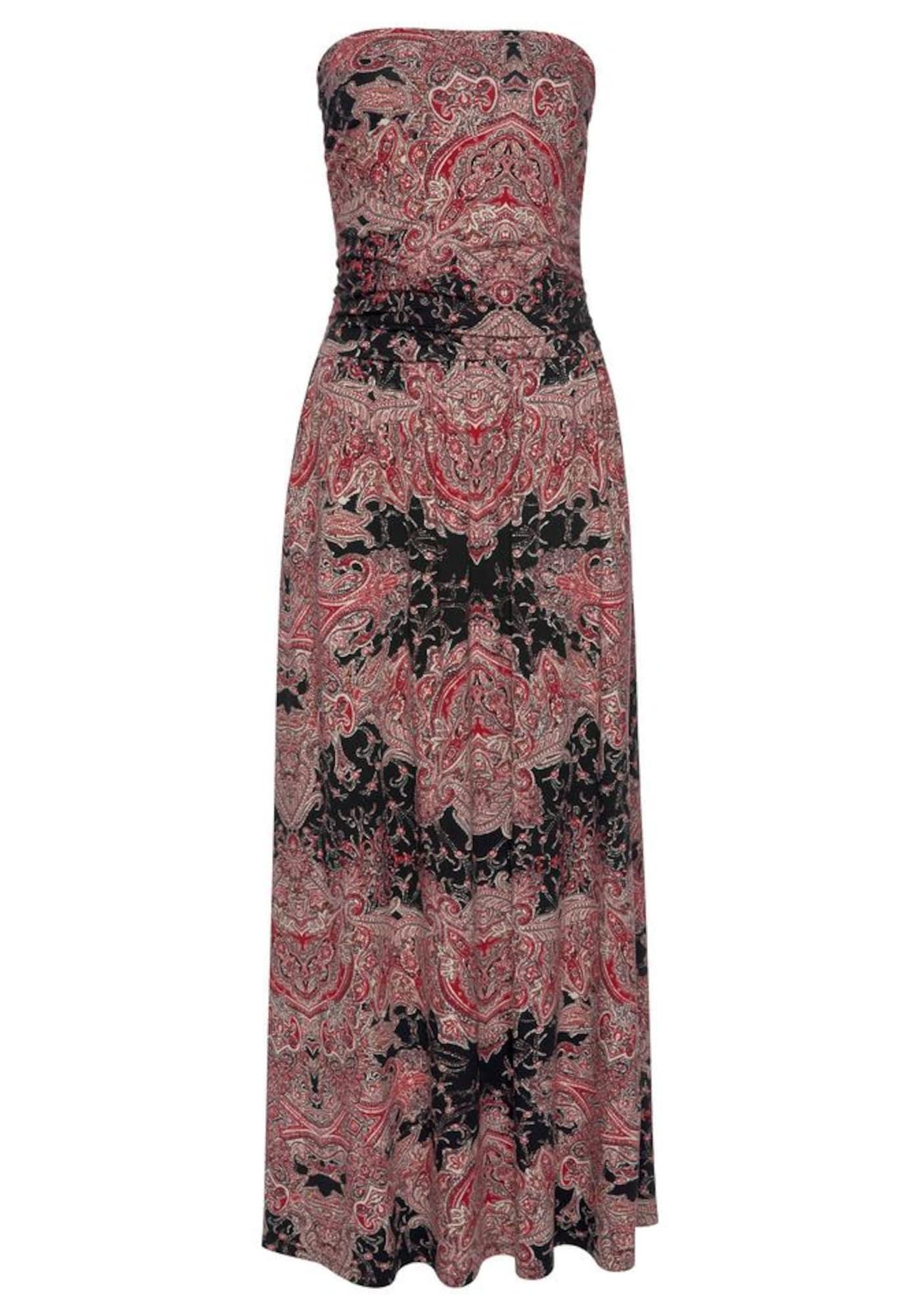 LASCANA Plážové šaty  ružová / čierna / zmiešané farby