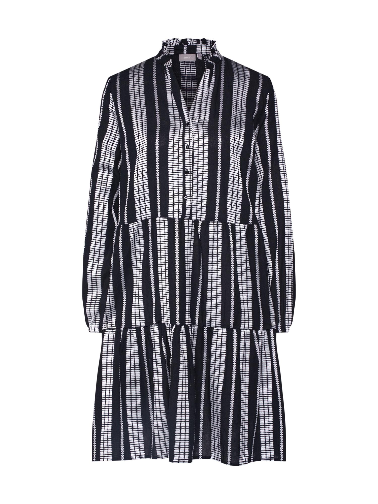 b.young Palaidinės tipo suknelė 'BXILISE DRESS' juoda / balta