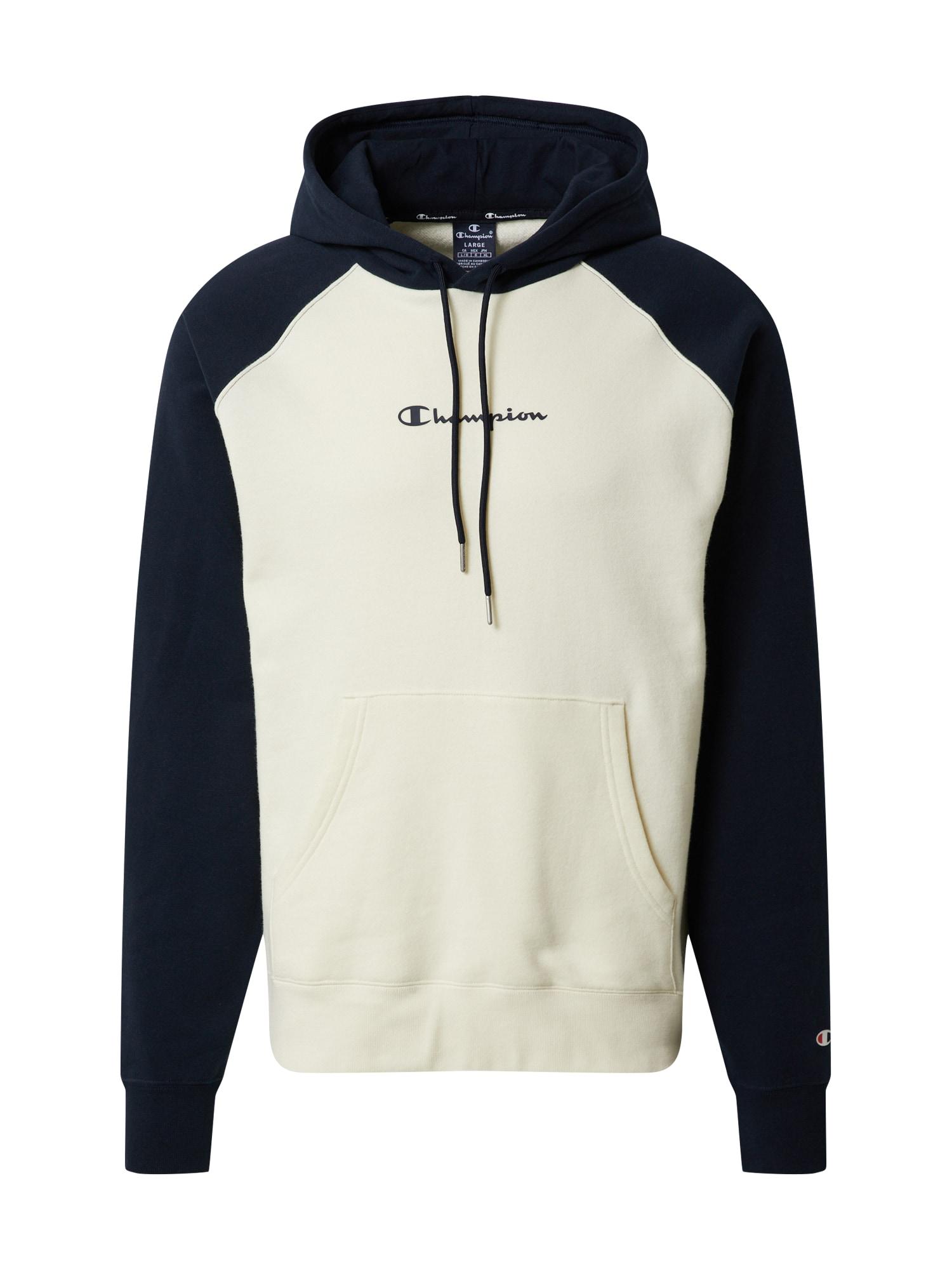 Champion Authentic Athletic Apparel Megztinis be užsegimo balkšva / tamsiai mėlyna