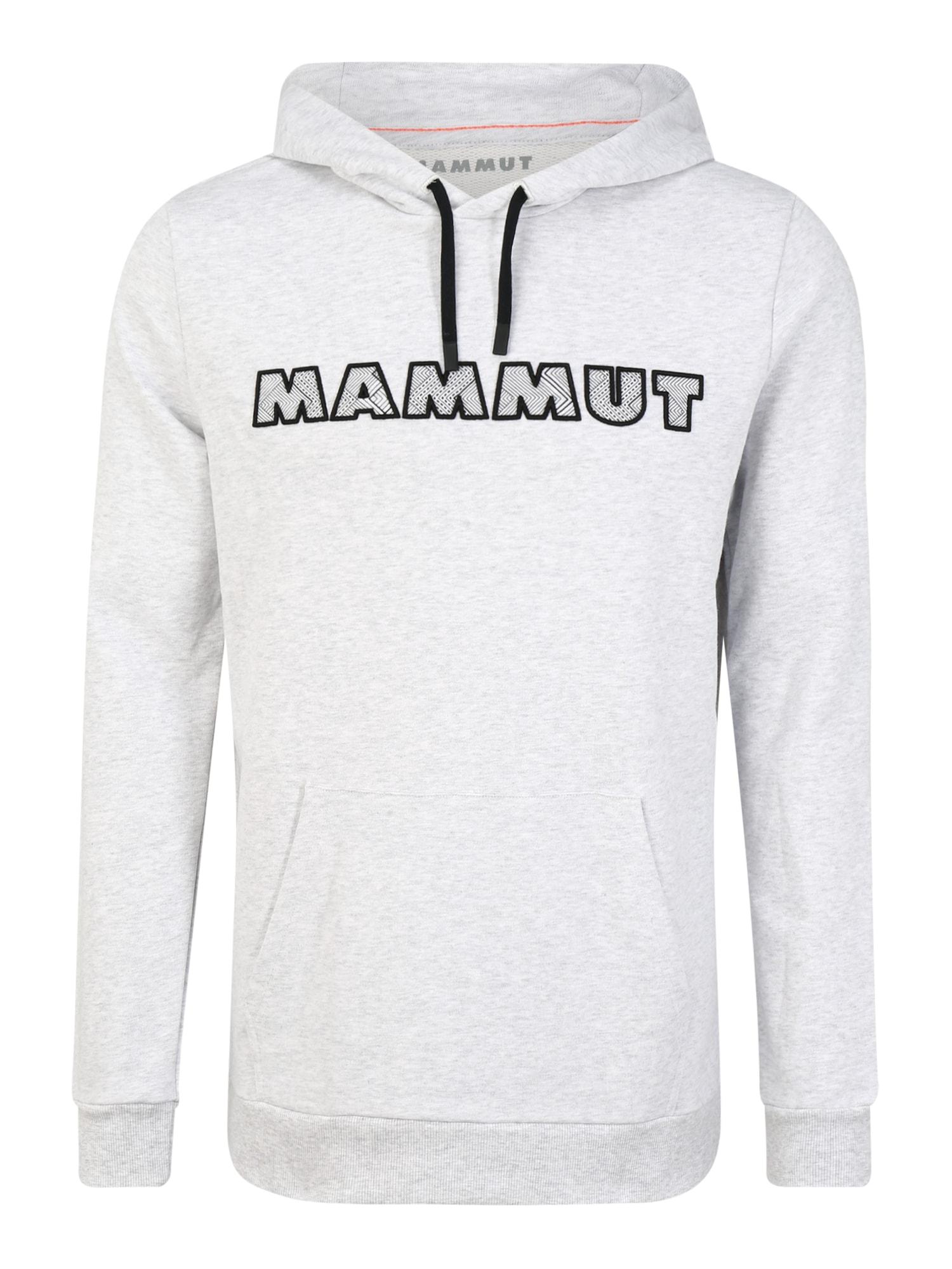 MAMMUT Sportinio tipo megztinis juoda / šviesiai pilka