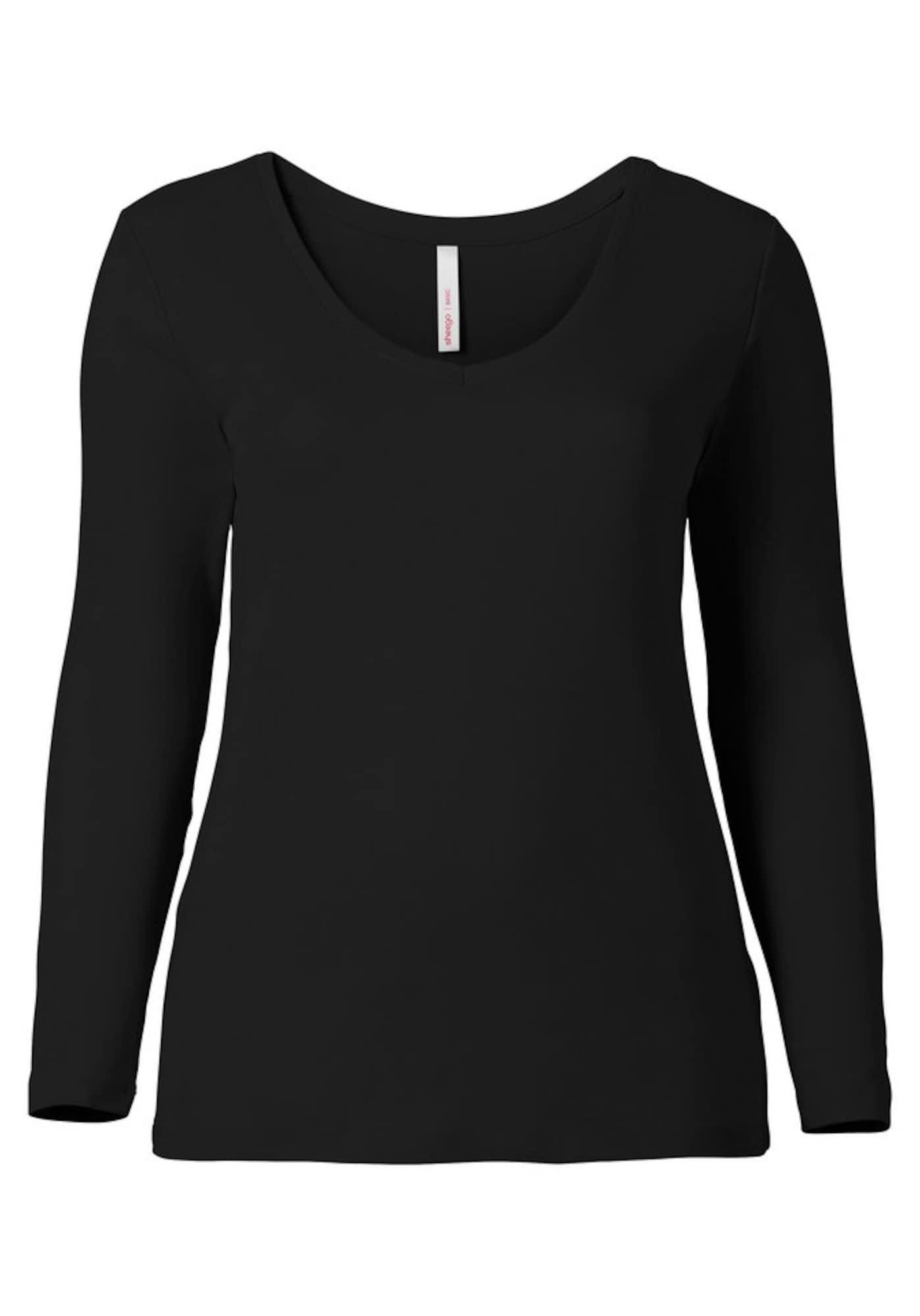 SHEEGO Marškinėliai juoda