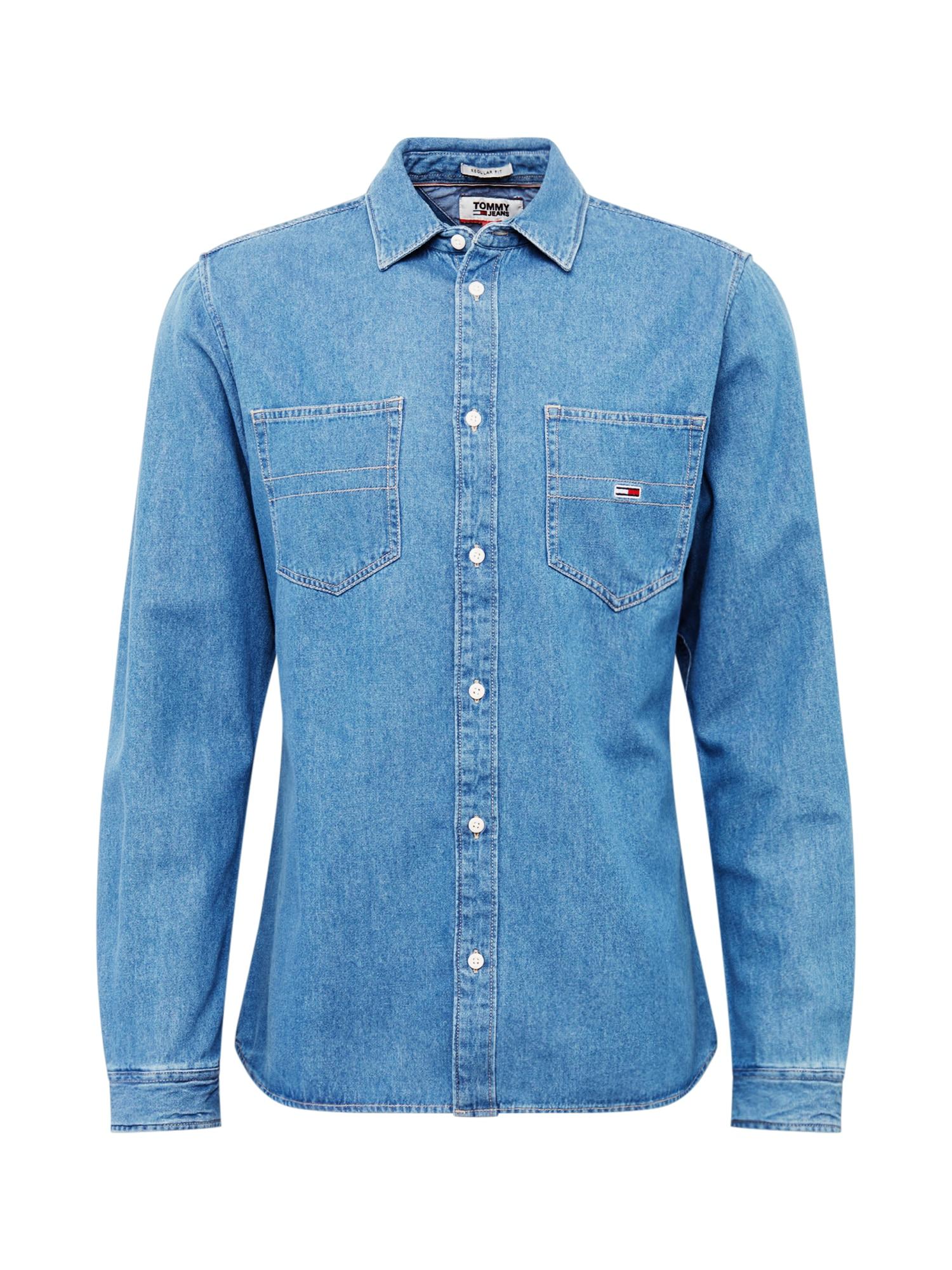 Tommy Jeans Dalykiniai marškiniai tamsiai (džinso) mėlyna