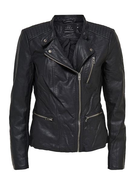 Jacken für Frauen - Übergangsjacke in Lederoptik › ONLY › schwarz  - Onlineshop ABOUT YOU