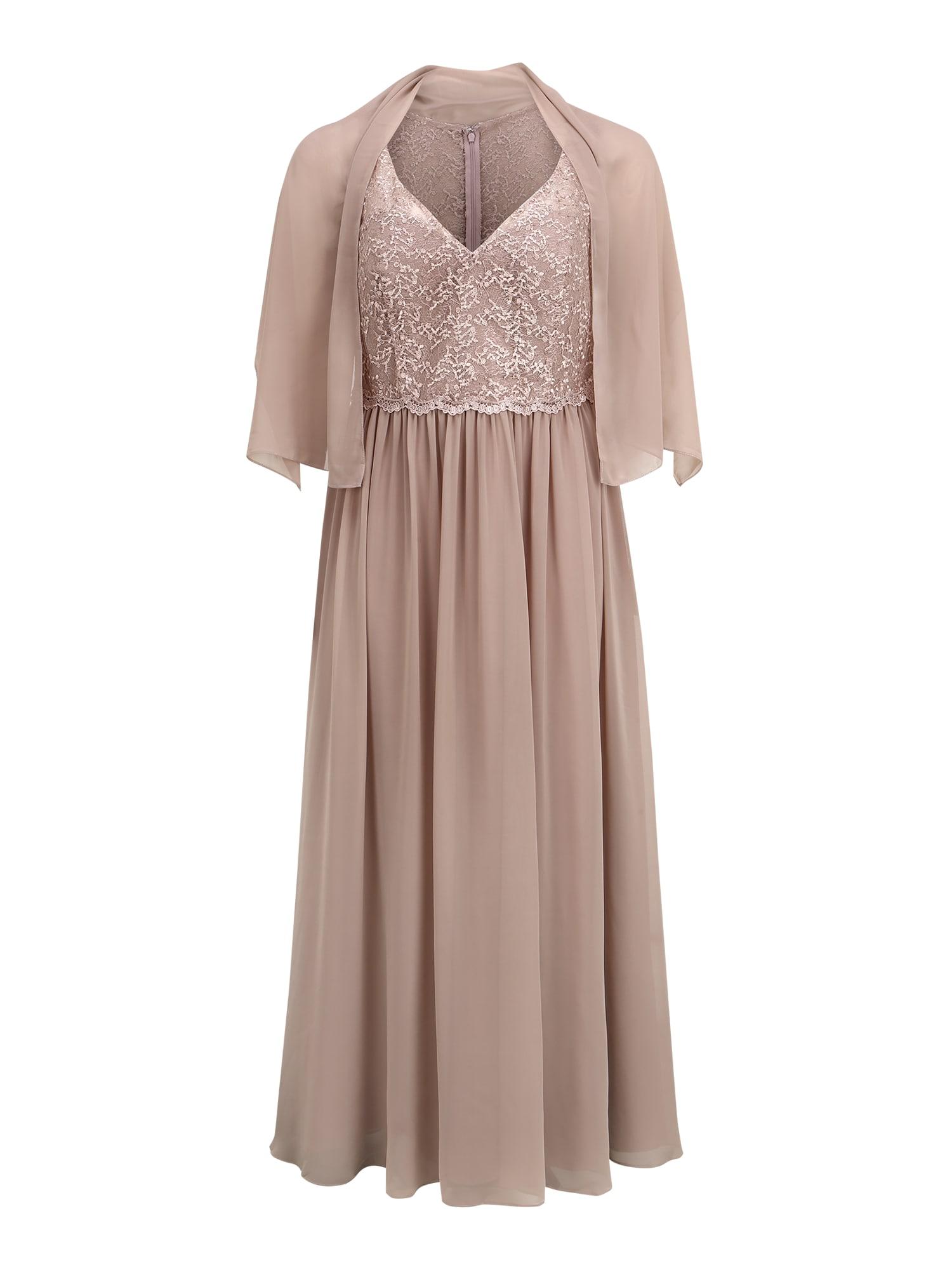 My Mascara Curves Vakarinė suknelė smėlio spalva
