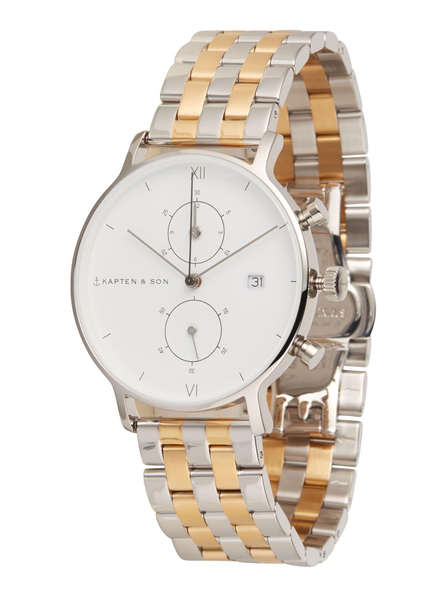 Kapten & Son Analoginis (įprastinio dizaino) laikrodis 'Chrono Bicolor Steel' auksas / sidabras